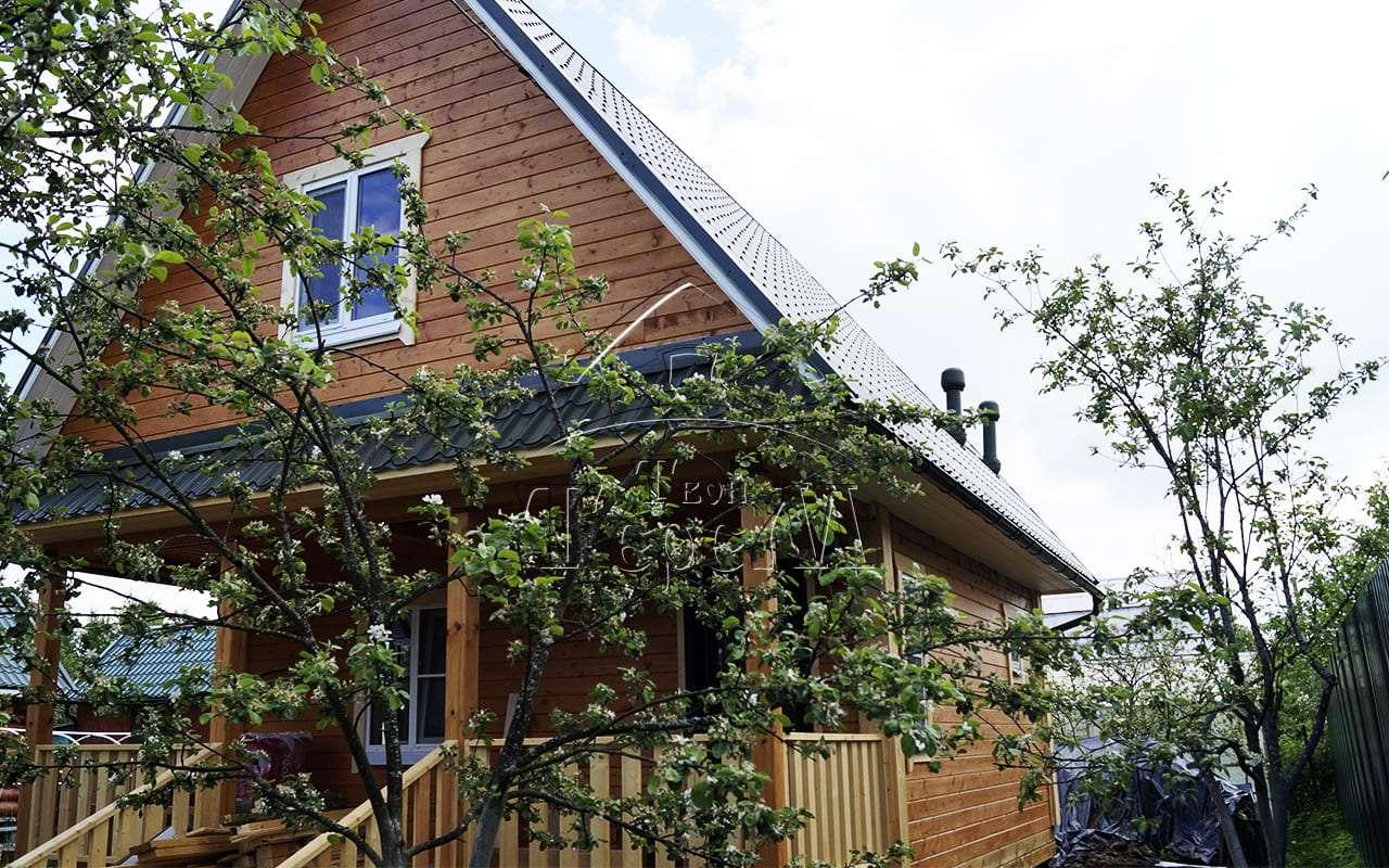 Строительство дома из бруса 6 на 8 м. СТ Пупышево