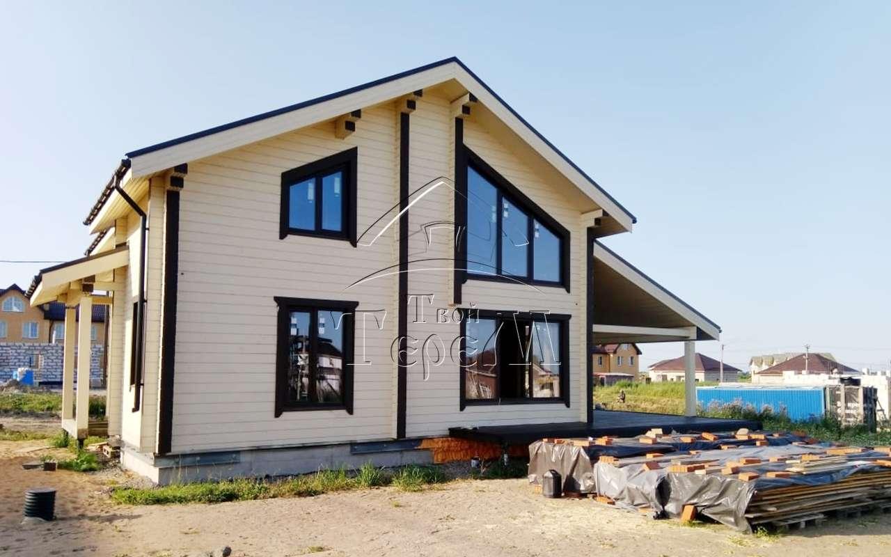 проекты домов из бруса в чашу