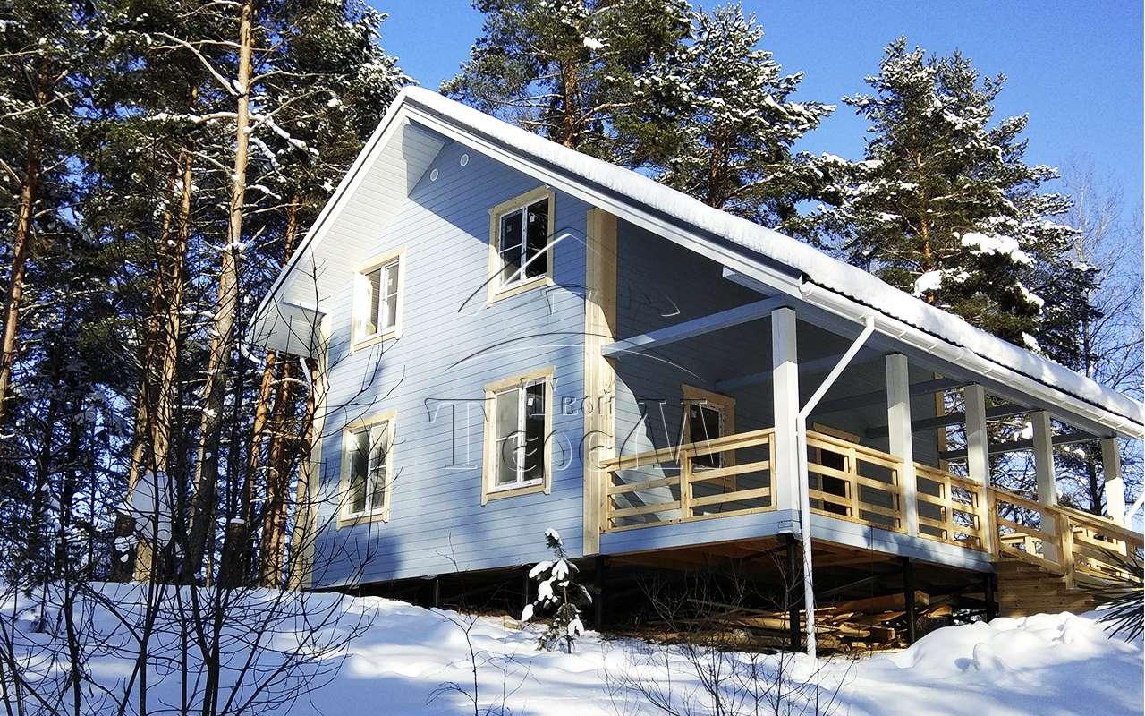 Строительство дома из бруса 9 на 10 м. д. Бараново