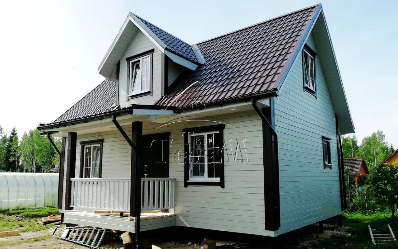 Строительство дома из бруса 6 на 9 м. СНТ Пульман
