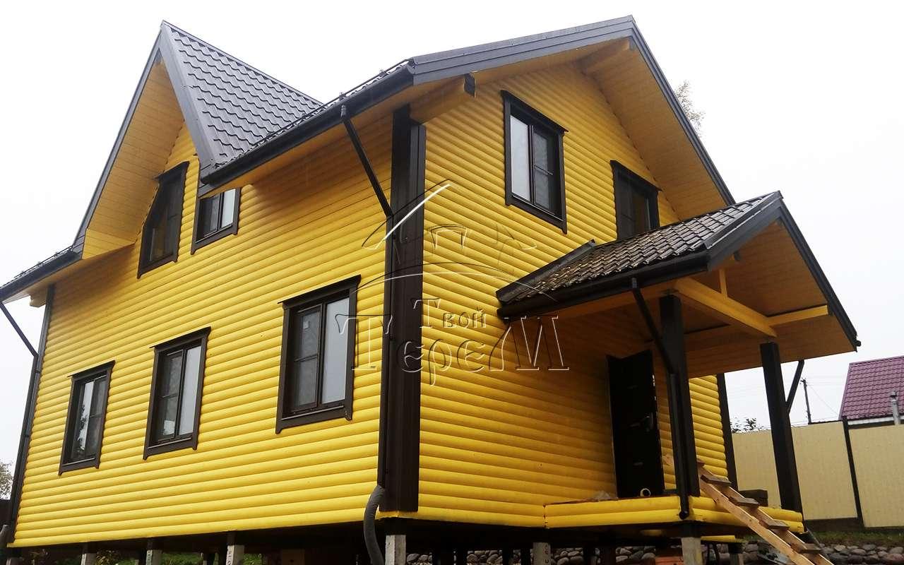 Строительство дома из бруса 8 на 10 м. пос. Сосново